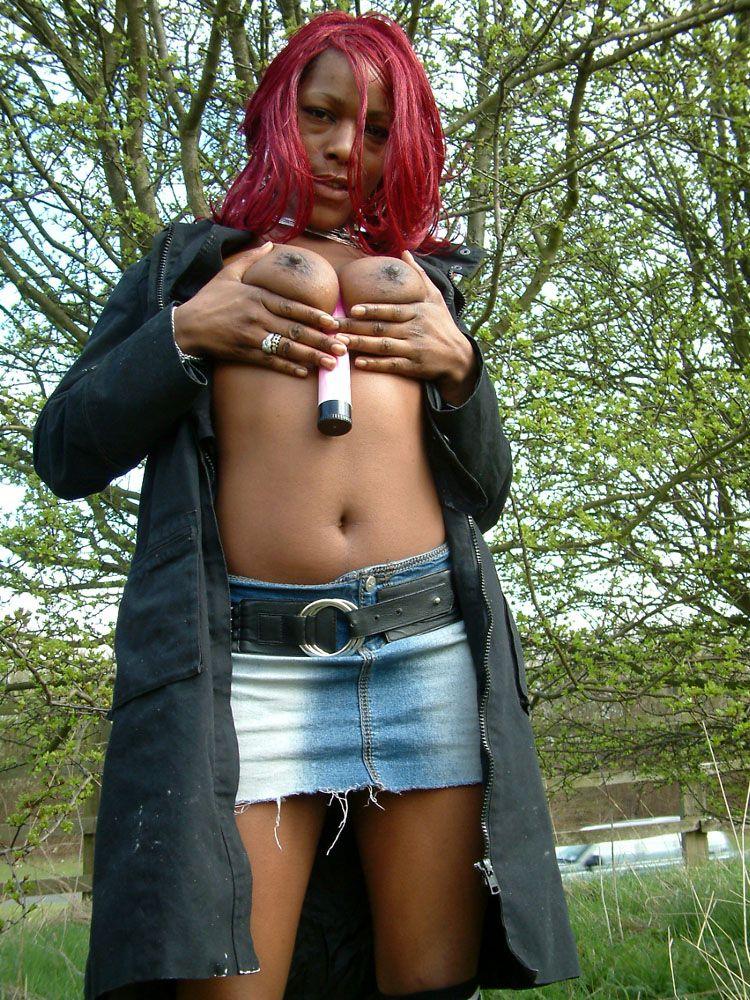 Ebony Flasher Melanie